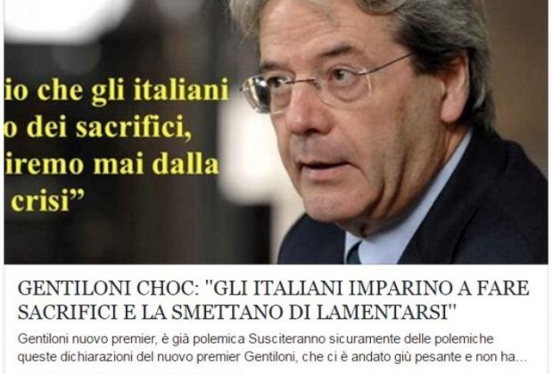 Gentiloni fake news